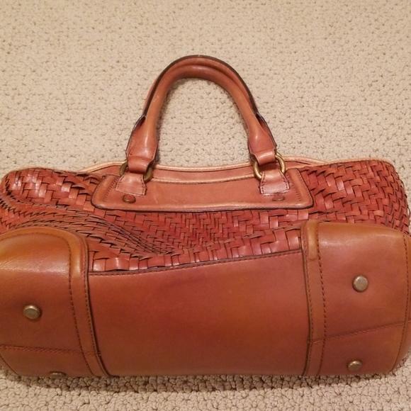 Cole Haan Handbags - Cole Haan basket weave leather bag